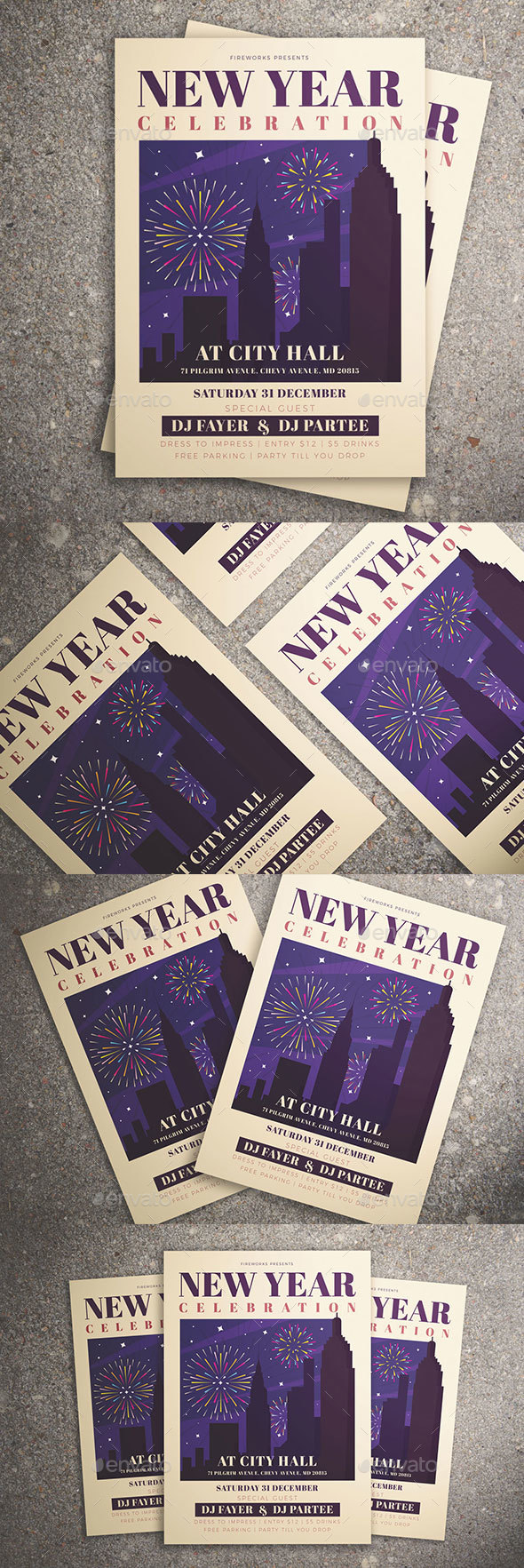 GraphicRiver New Year Celebration Flyer 21066250