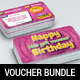 Kids Birthday Voucher Bundle - GraphicRiver Item for Sale