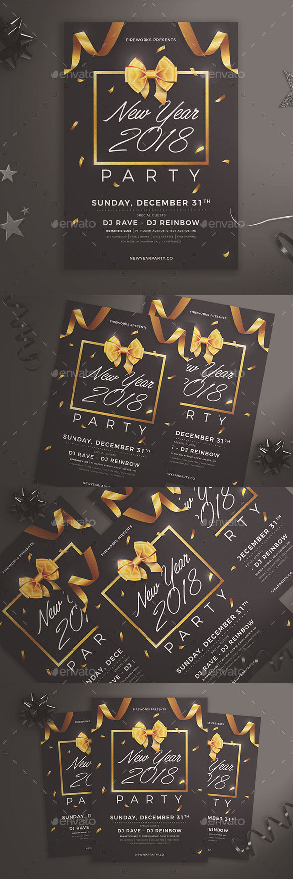 GraphicRiver New Year Party Flyer 21066502