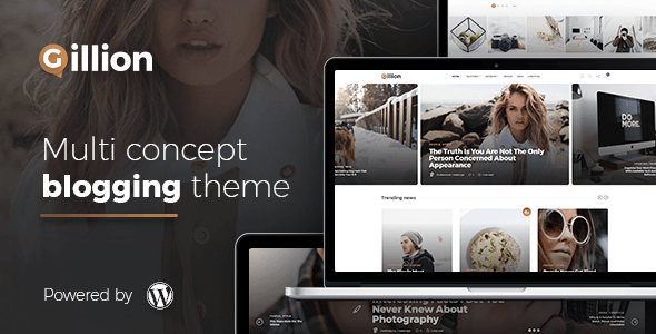 Gillion Multi-Concept Magazine, News, Review WordPress Theme
