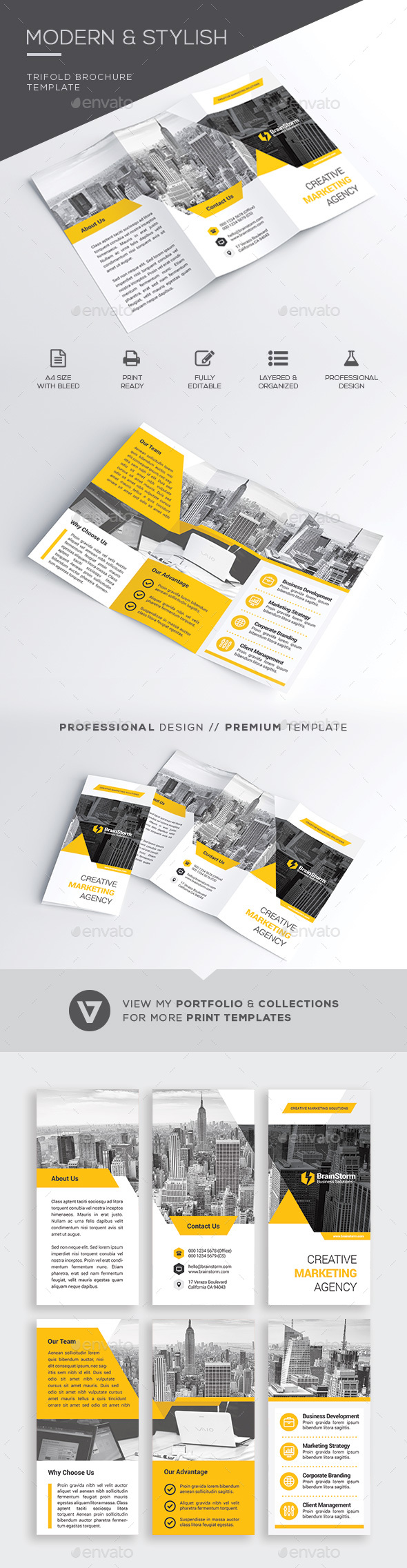 Trifold Brochure Template - Corporate Brochures