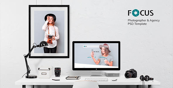 ThemeForest Focus Photographer portfolio PSD Template 21066579