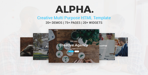 Alpha Dot Multi Purpose HTML5 Template - Corporate Site Templates