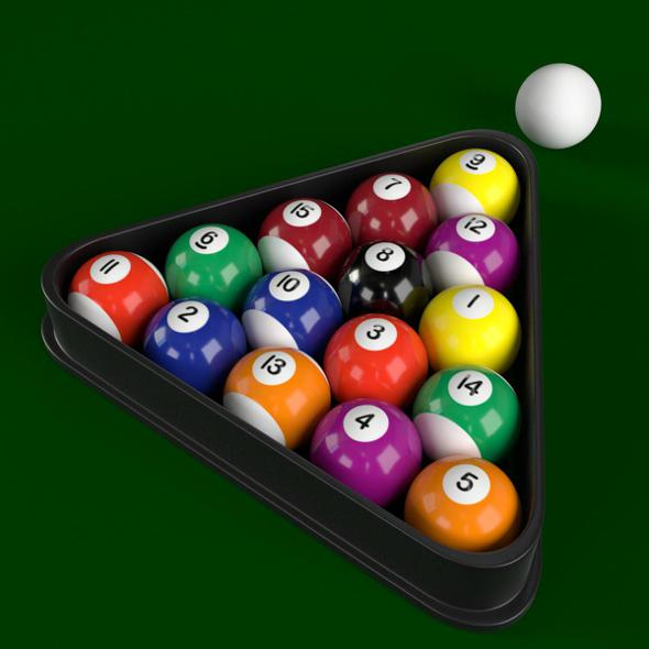 Pool Billiard Balls - 3DOcean Item for Sale