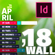 Wall 14 Pages Calendar 2018 with FullSized Photo Background — A3 and Tabloid - GraphicRiver Item for Sale