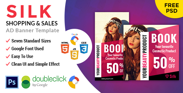 Silk | Shopping HTML 5 Animated Google Banner - CodeCanyon Item for Sale