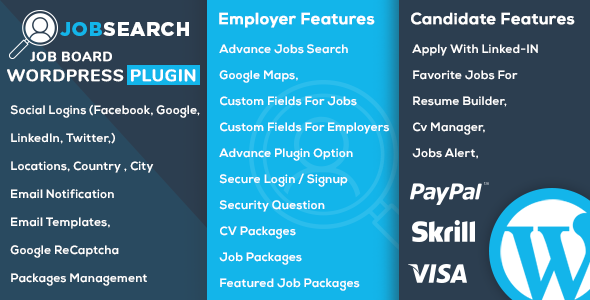 CodeCanyon JobSearch WP Job Board WordPress Plugin 21066856
