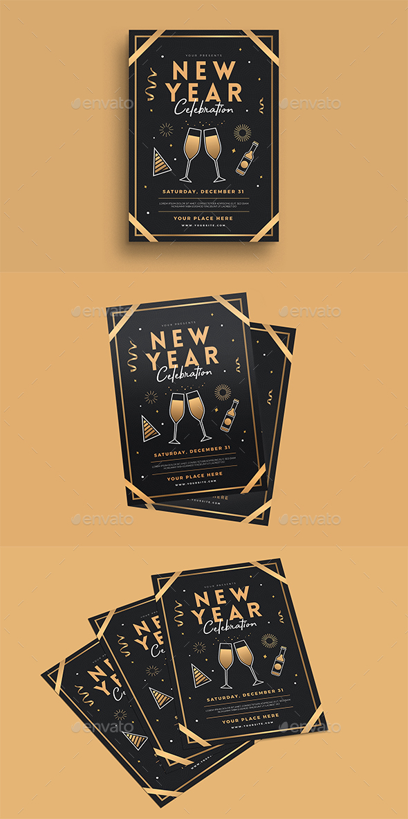 New Year Celebration Flyer - Events Flyers