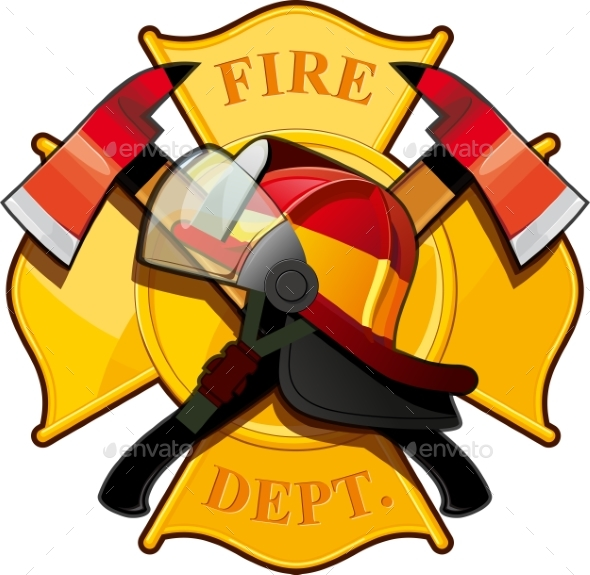 Fire Department Badge - Miscellaneous Vectors