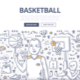Basketball Doodle Concept - GraphicRiver Item for Sale