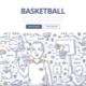 Basketball Doodle Concept