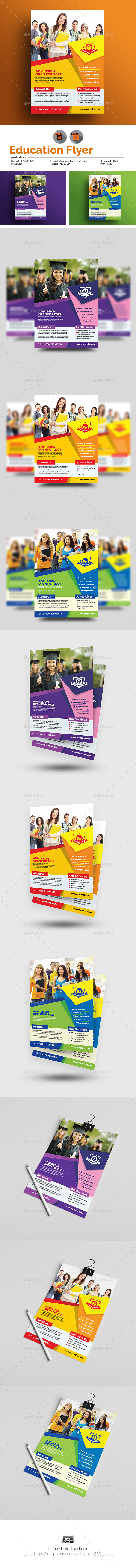 GraphicRiver Education Flyer Template 21066963