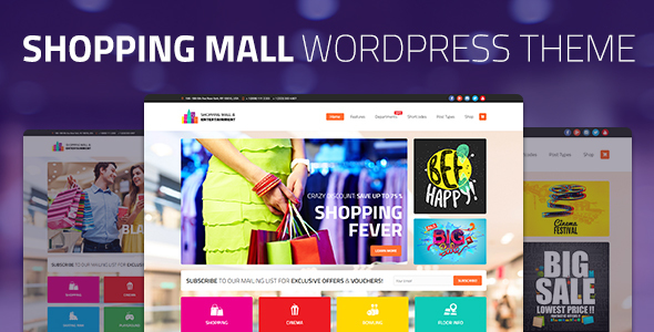 Shopping Mall - Entertainment & Shopping Center Business WordPress Theme - Business Corporate