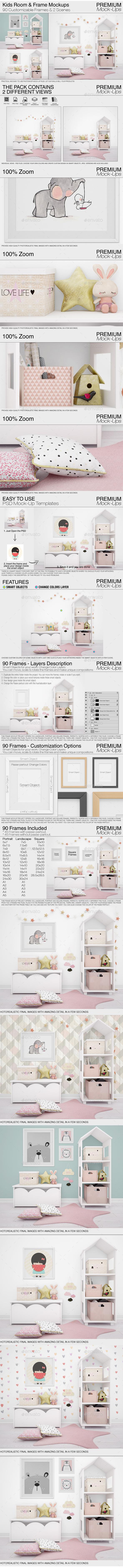 GraphicRiver Kids Room & Frame Mockups 21066983
