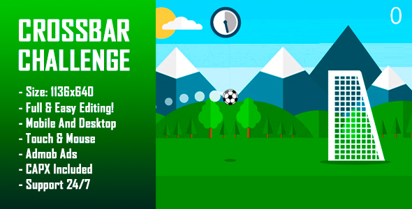 Download Crossbar Challenge - HTML5 Game + Mobile Version! (Construct-2 CAPX)