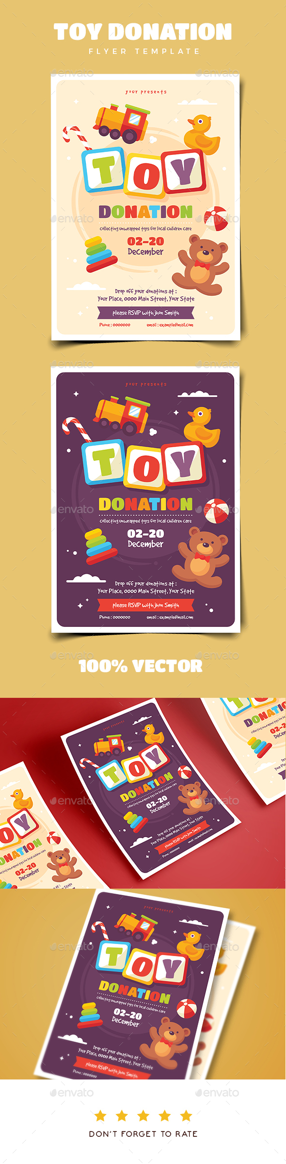Toy Drive Flyer Template - Events Flyers