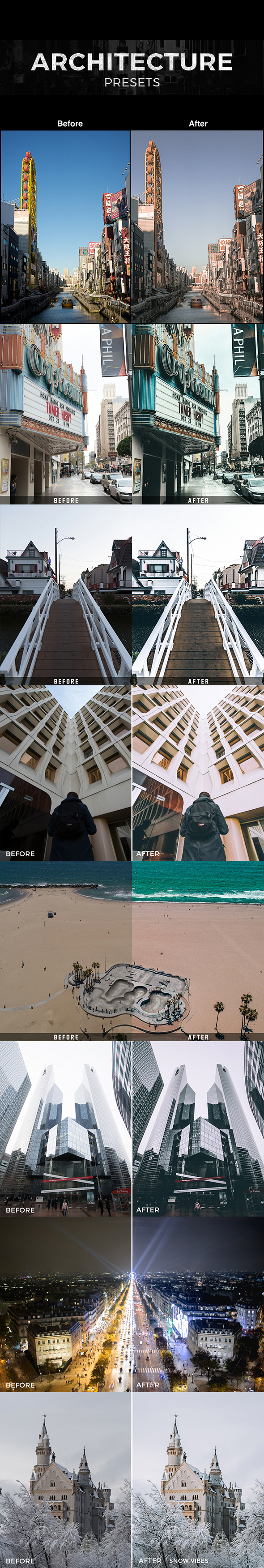 Professional Architecture Presets - Lightroom Presets Add-ons