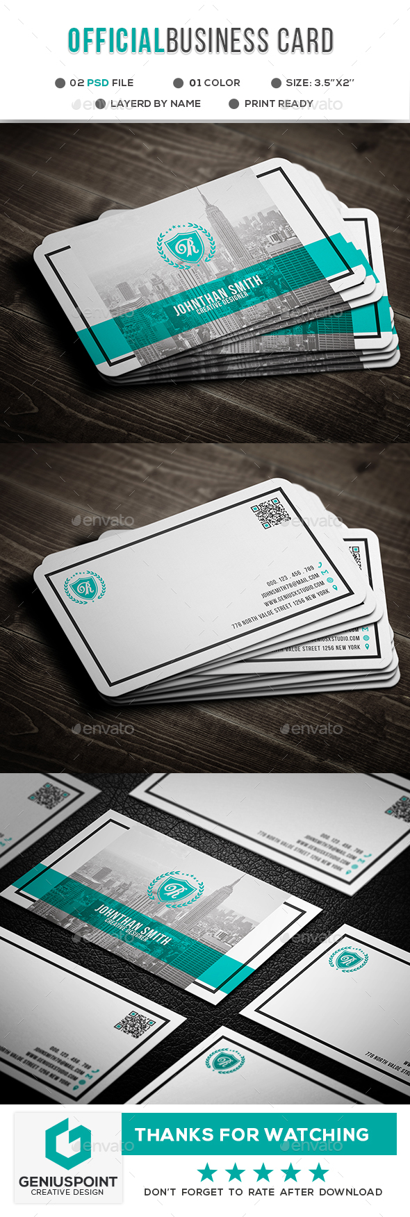 GraphicRiver Official Business Card 21067288