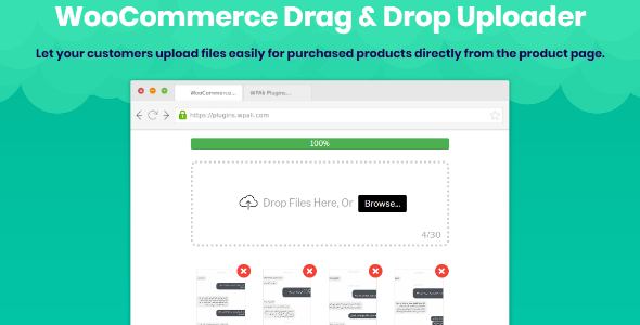 WooCommerce Drag & Drop Uploader | Ajax File Upload - CodeCanyon Item for Sale
