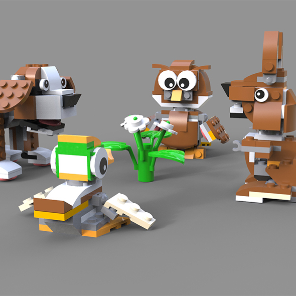 3DOcean Lego Animals pack 1 21067633