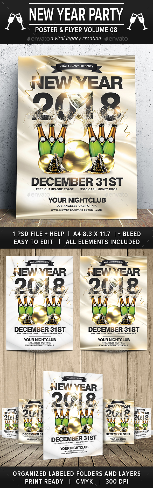 New Year Party Poster / Flyer V08 - Events Flyers