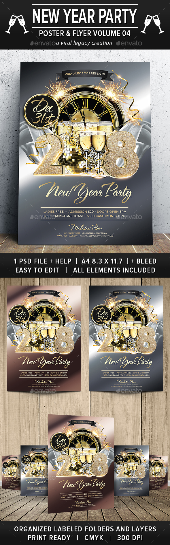 New Year Party Poster / Flyer V04 - Events Flyers