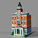 Lego town hall 3D model