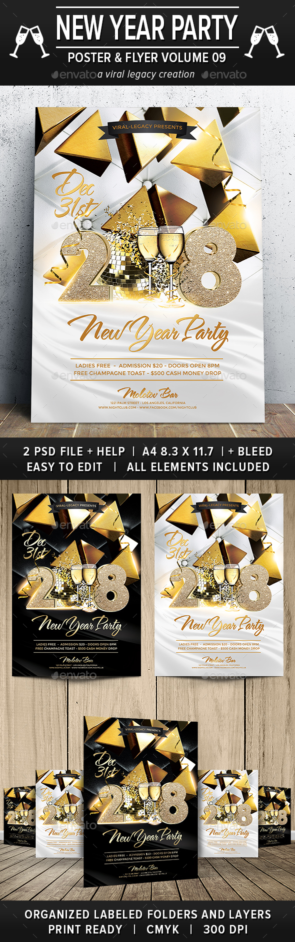 New Year Party Poster / Flyer V09 - Flyers Print Templates