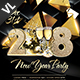 New Year Party Poster / Flyer V09 - GraphicRiver Item for Sale