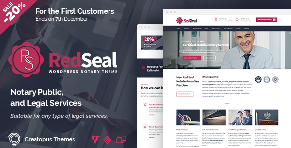 Download RedSeal - Notary Public and Legal Services WordPress Theme