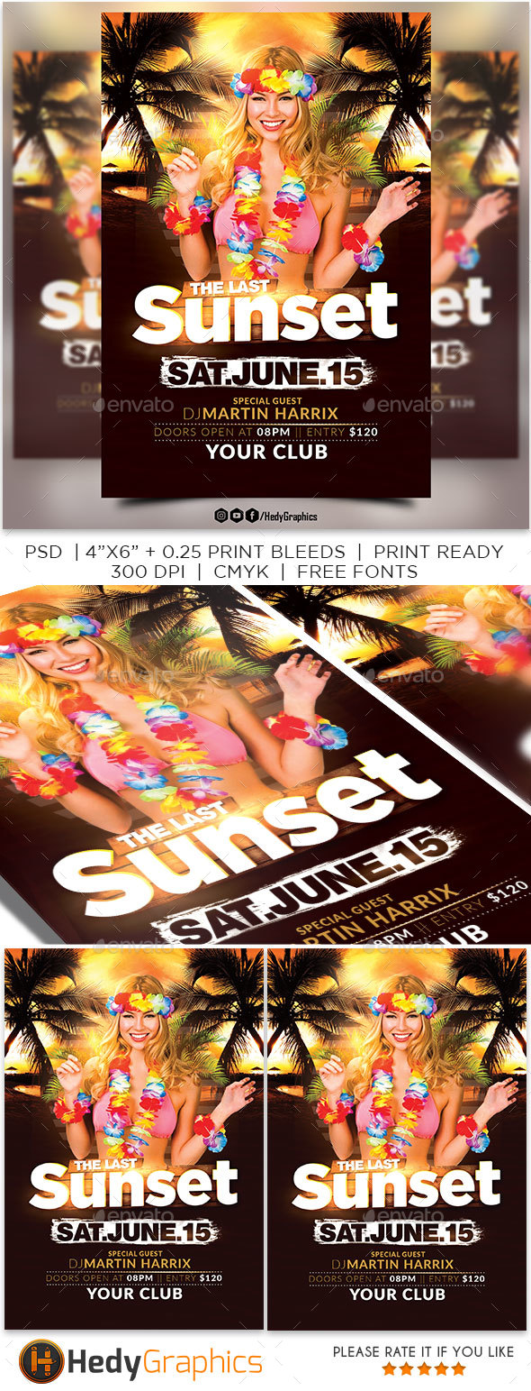 The Last Sunset Flyer - Flyers Print Templates