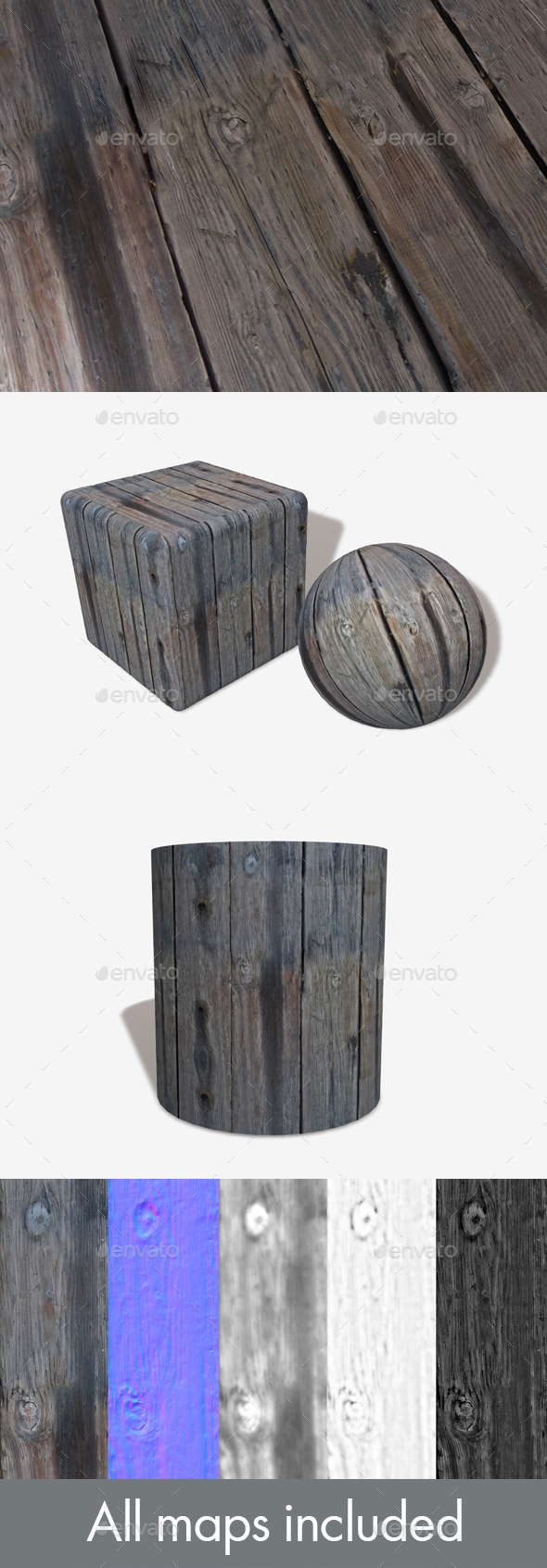 3DOcean Thick Chunky Weathered Wood Seamless Texture 21067916
