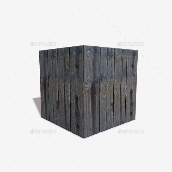 Thick Chunky Weathered Wood Seamless Texture