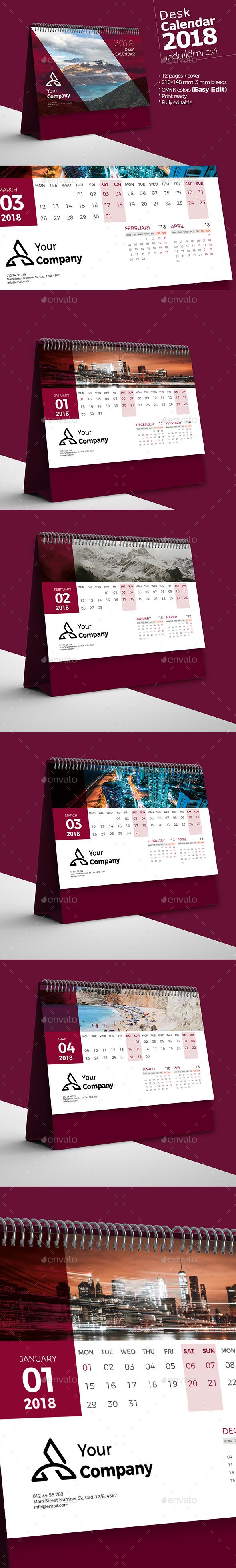 Desk Calendar 2018 - Calendars Stationery