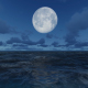 Night Sea With Moon - VideoHive Item for Sale