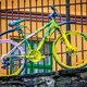 Old rusty colourfully painted vintage bicycle - PhotoDune Item for Sale