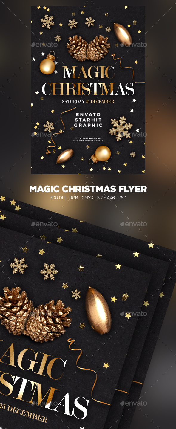 Magic Christmas  Flyer - Clubs & Parties Events