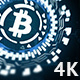 Сircular Hologram Rotating Bitcoin Sign 5 in 1 - VideoHive Item for Sale
