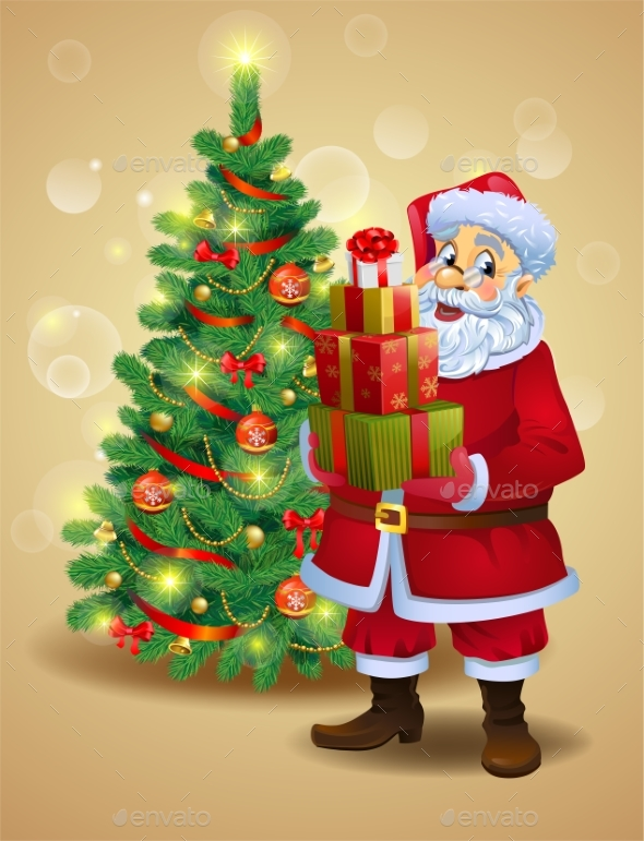 GraphicRiver Santa Claus with Gifts 21068386