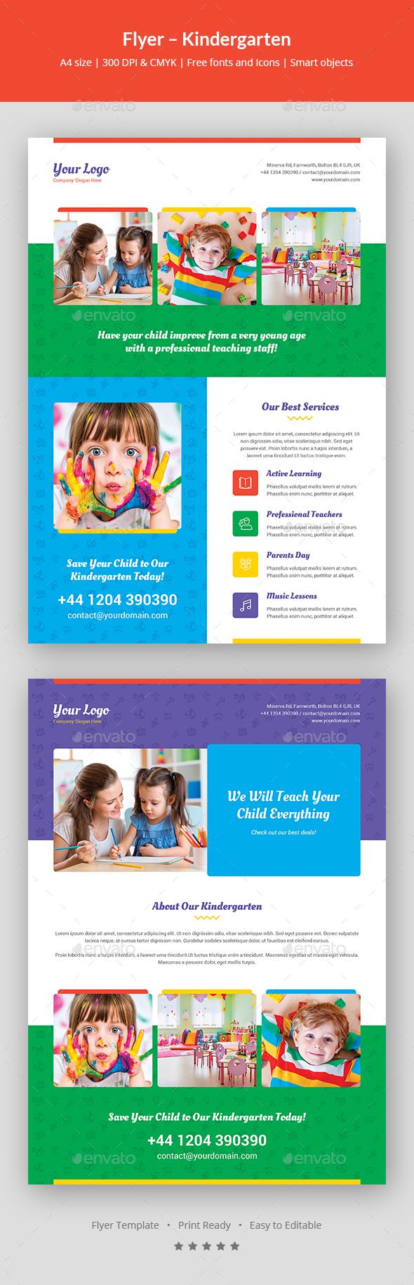 Flyer – Kindergarten - Events Flyers
