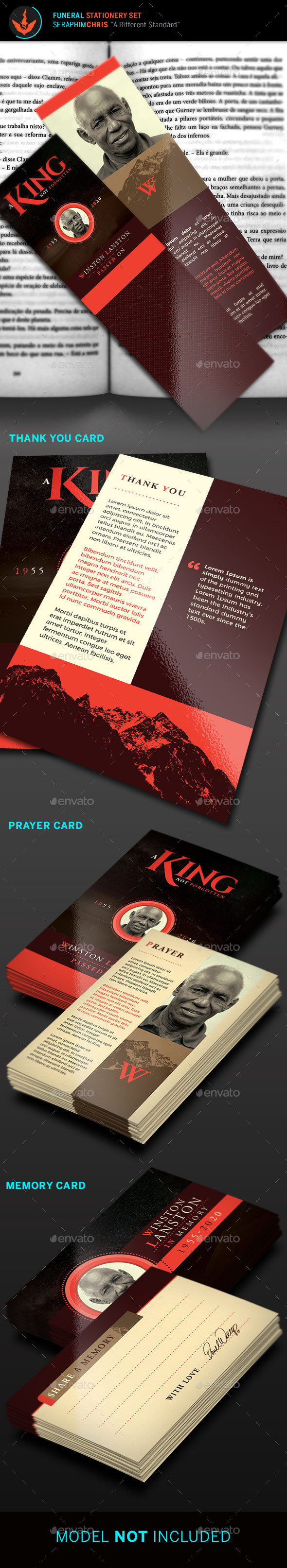 GraphicRiver King Funeral Stationary Set Template 21068716