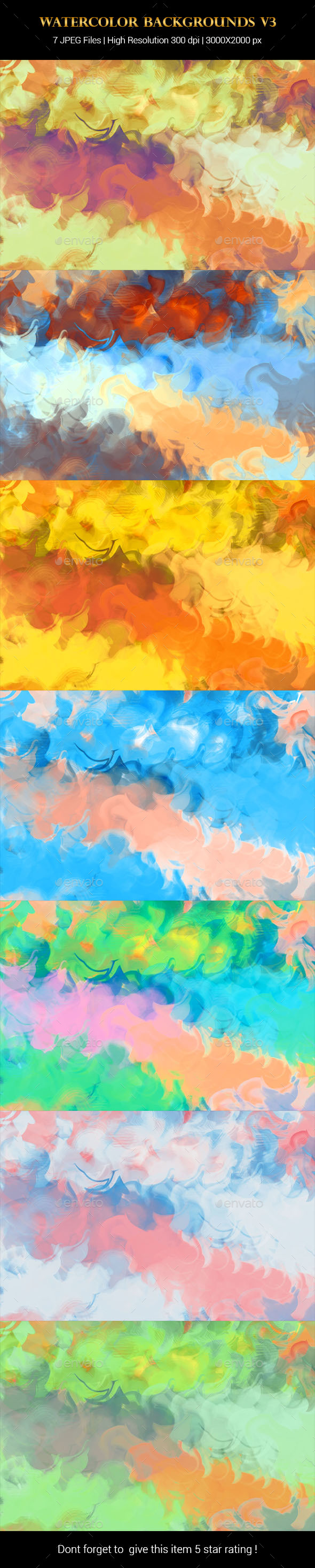 Watercolor Backgrounds v3 - Backgrounds Graphics