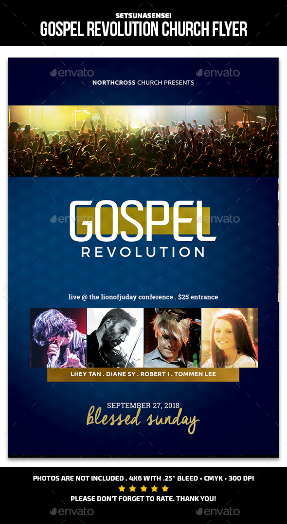 GraphicRiver Gospel Revolution Flyer 21031203