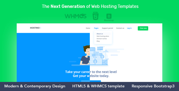 Image of Hostino WHMCS Web Hosting WordPress Theme