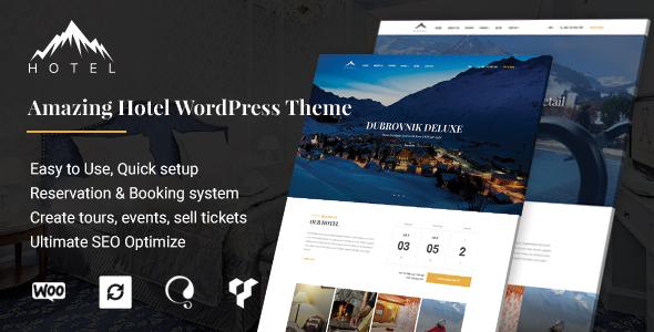 Hotel WordPress Theme | Hotel WP - Travel Retail