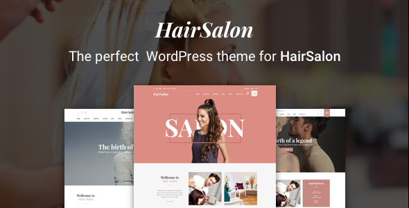 Hair Salon WordPress Theme - Hair Salon WP - Health & Beauty Retail