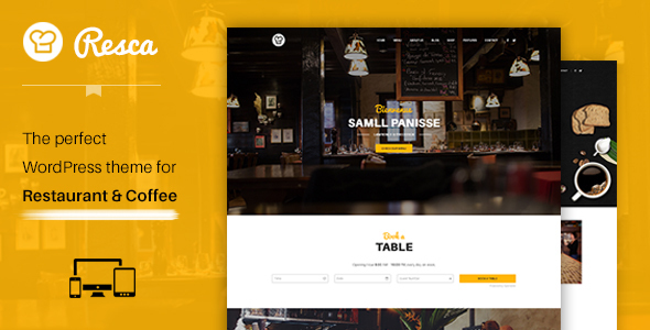 WordPress Restaurant Theme - Resca - Restaurants & Cafes Entertainment