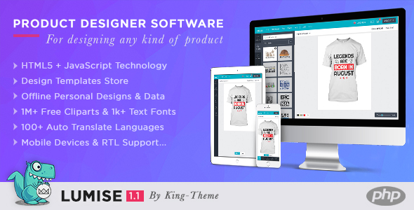 CodeCanyon Lumise Product Designer Tool PHP Version 21069158