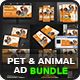 Pet & Animal Advertising Bundle Vol.2 - GraphicRiver Item for Sale