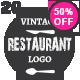 20 Restaurant Vintage Labels - GraphicRiver Item for Sale